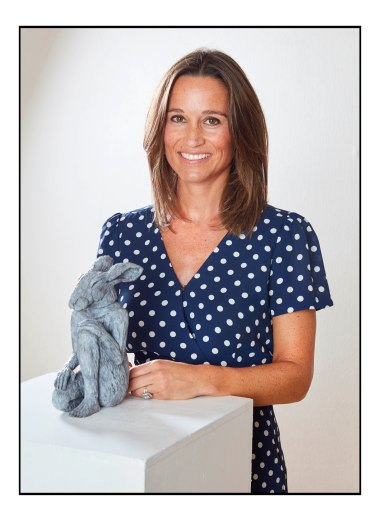 Pippa Middleton with the Mary Hare sculpture by Sophie Ryder,  for the Mary Hare Primary School. Copyright Photo by Les Wilson  Les@leswilson.com 5th Sept  2018